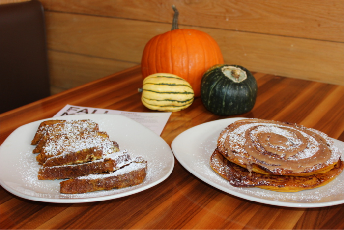 Kerbey Lane Pumpkin Pancakes and French Toast