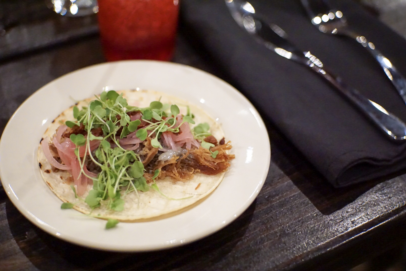 Duck Confit Taco at Ghost Hill in Dripping Springs