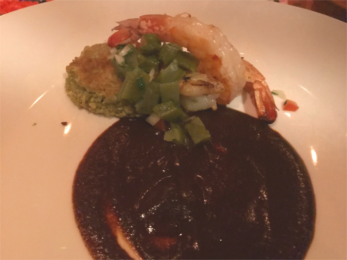 Jumbo Shrimp and Mole at Alcomar