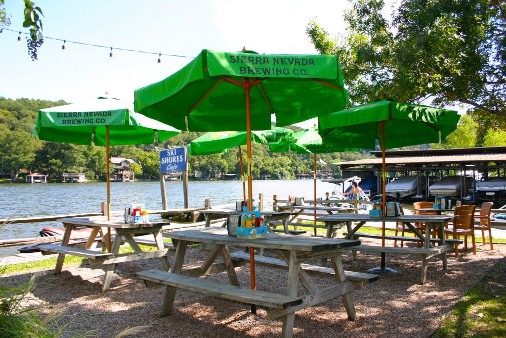 Ski Shores Cafe Best Views in Austin
