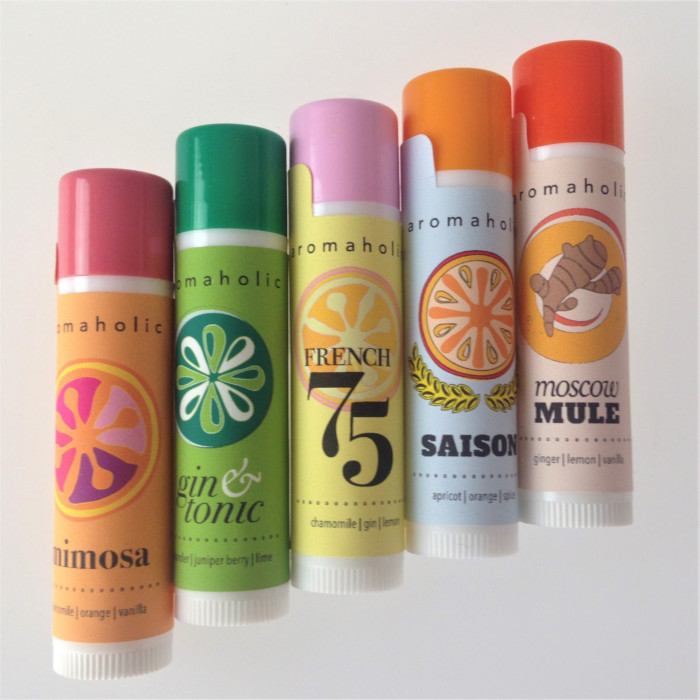 Cocktail Inspired Lip Balms from Aromaholic