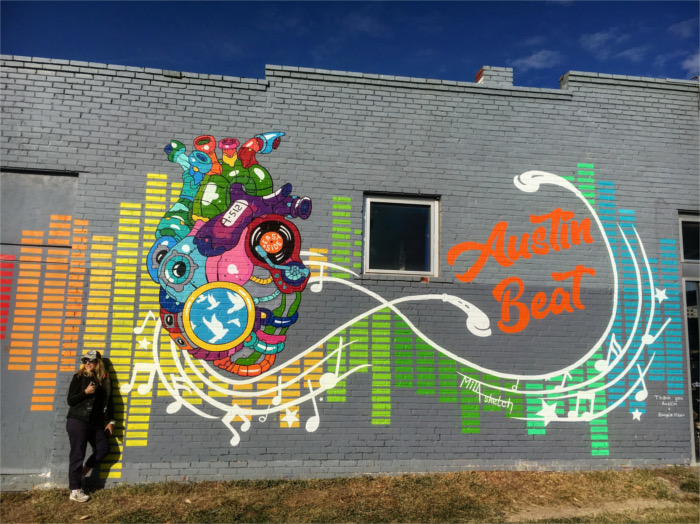 Austin Beat Mural for Google