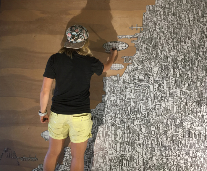 Mila Sketch Mural Hops for Hope
