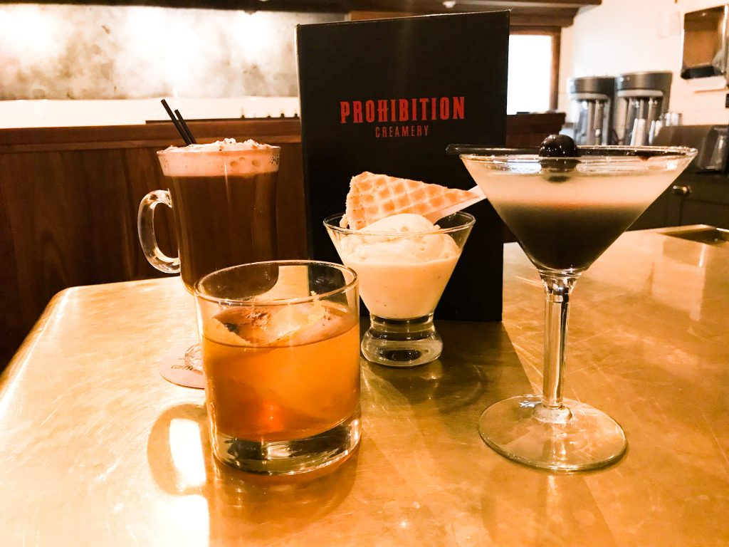 Prohibition Creamery Winter Cocktails and Ice Cream