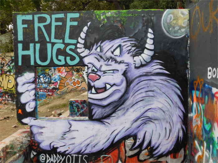 Daddy Otis Free Hugs Monster Mural
