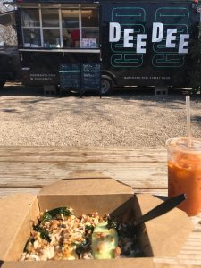 Pad Kapow and Thai Iced Tea at Dee Dee