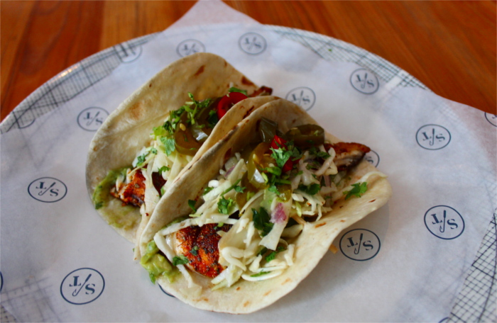 Fish Tacos at Salt Traders in North Austin