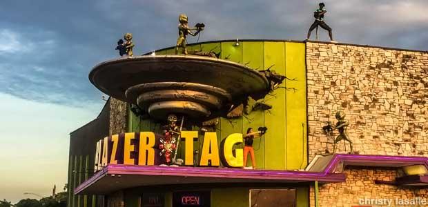Blazer Tag Business Sign in Austin