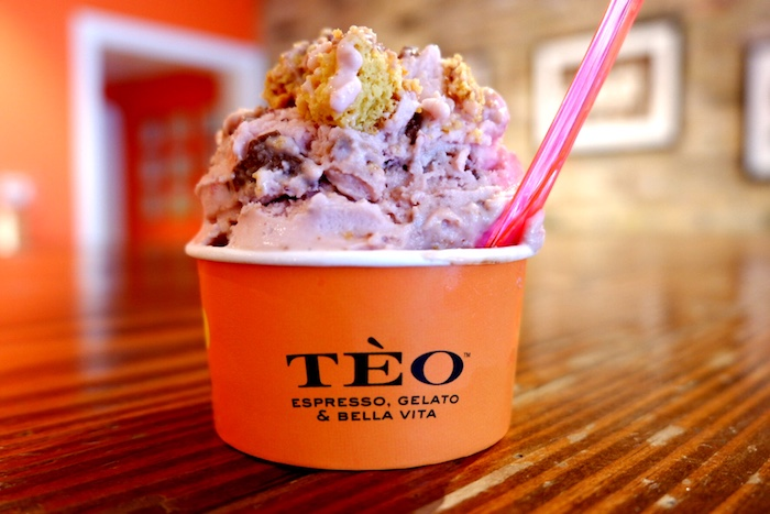 Strawberry Nutella Toast at Teo Gelato Austin