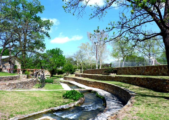 Scenic Mill Pond Park in San Saba, Texas