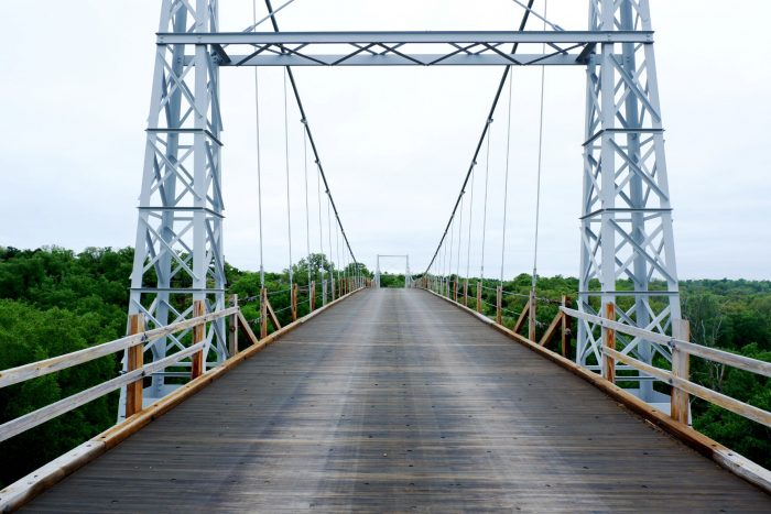 Last Suspension Bridge in Texas Open to Traffic