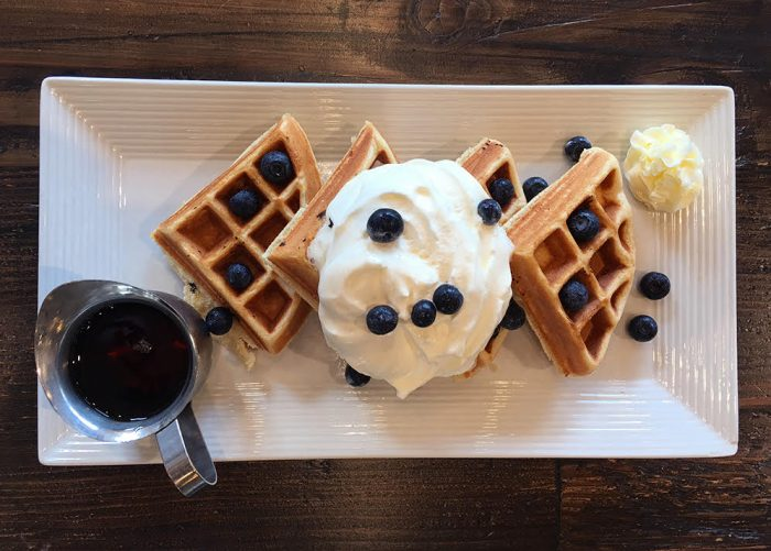 Blueberry Waffles for Brunch in San Saba