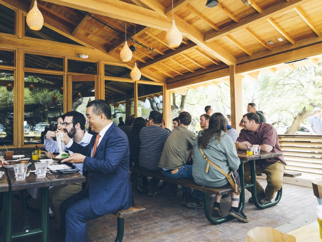 Outdoor Patio in Austin at Loro