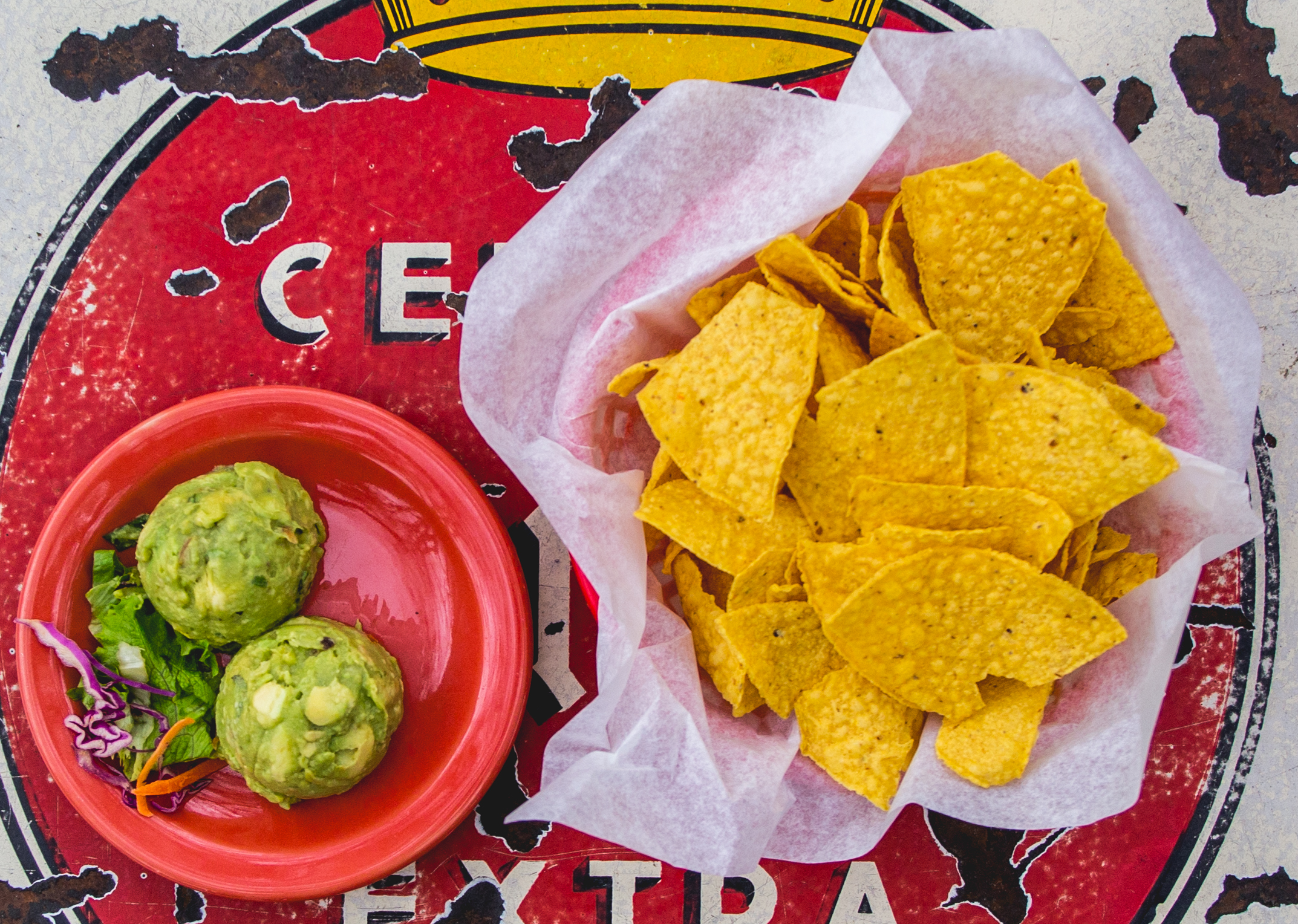 Simple and delicious guacamole at Guero's in Austin