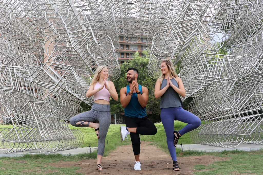 Ashley and Becky Brown With Austin Yogi Gustavo Padron
