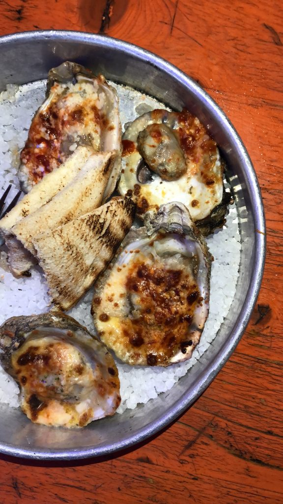 Austin Wood fired Grilled Oysters at Lucy's Fried Chicken