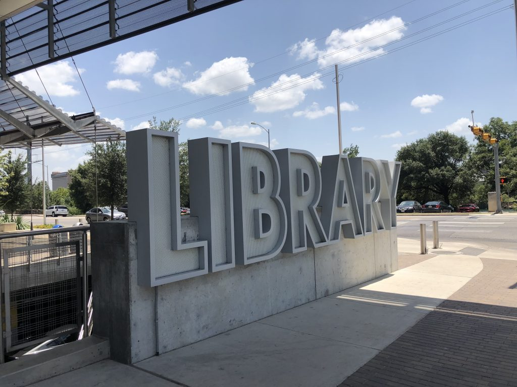 Austin Central Library Sign