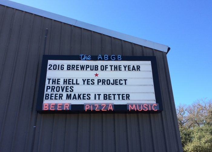 The Hell Yes Project at Austin Beer Garden Brewing Company