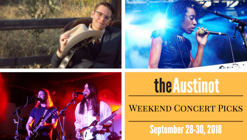 Austinot Weekend Concert Picks Sept 28 2018