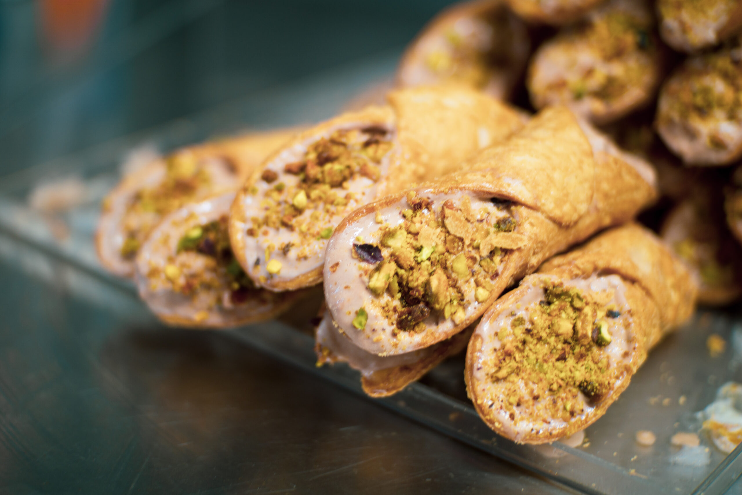 hand-stuffed gelato cannolis at Dolce Bacio in Austin