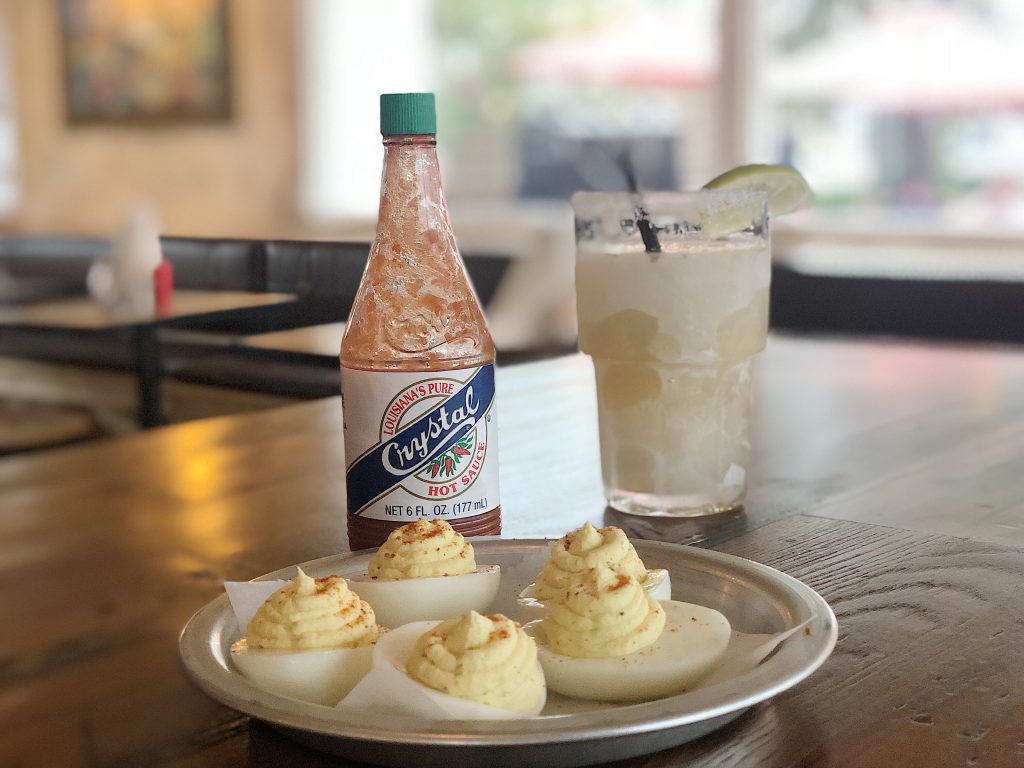 Deviled Eggs and Cocktail at T22 Austin