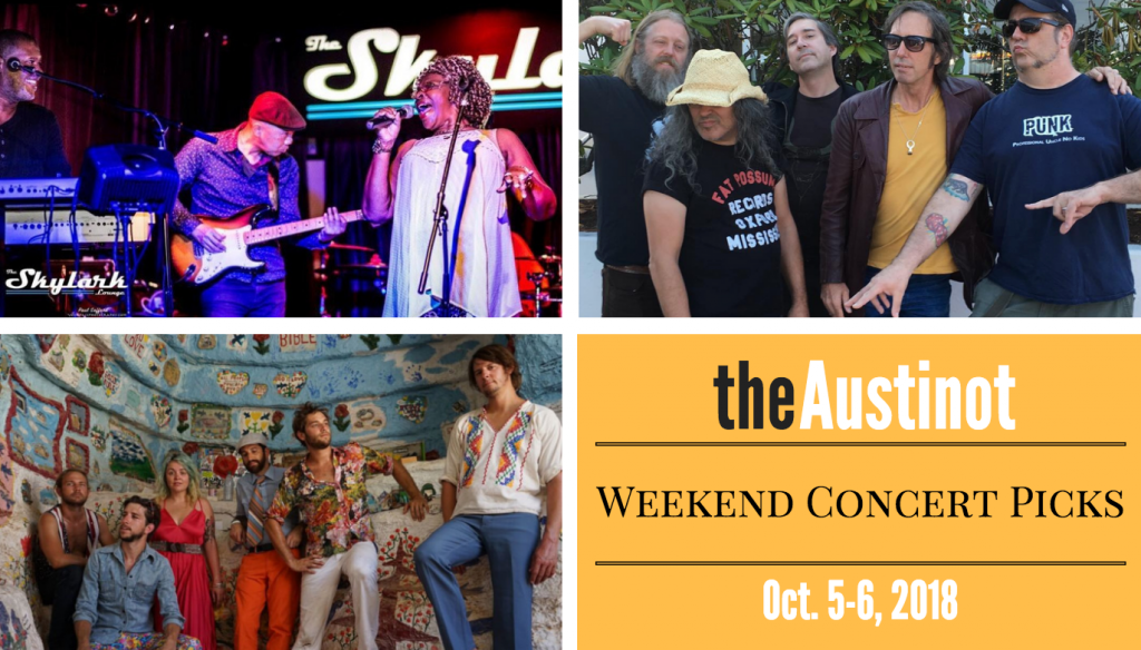 Austinot Weekend Concert Picks Oct 5 2018