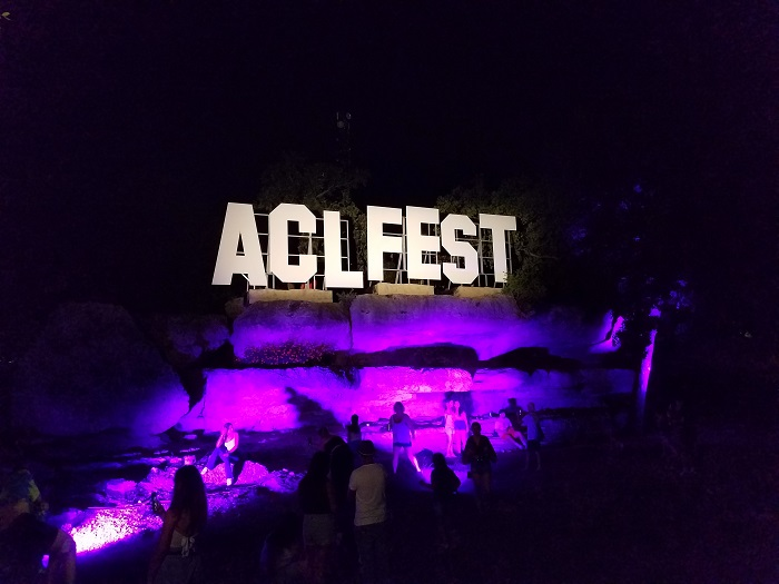ACL Fest Sign at Night