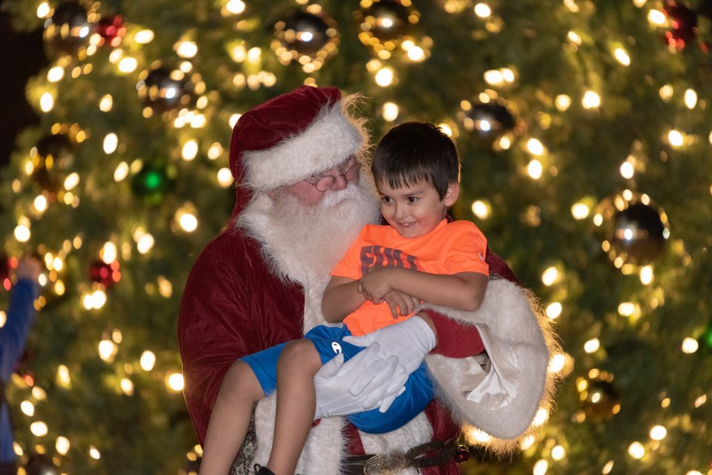Santa in Bastrop, Texas