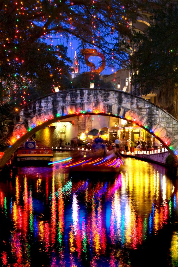 River Walk Holiday Lights in San Antonio