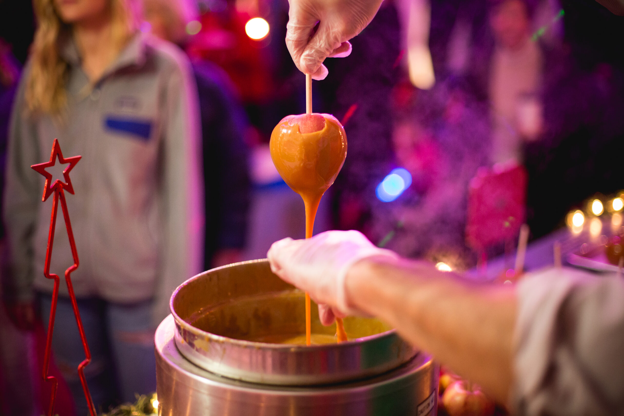 Caramel Apple at Trail of Lights Austin