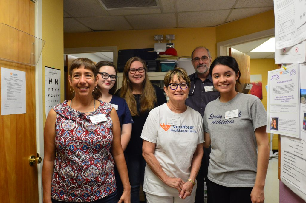 Volunteers and staff at Volunteer Healthcare Clinic