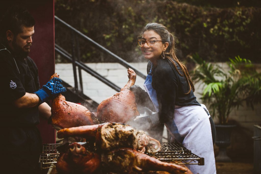 Buenos Aires Paola Guerrero-Smith Prepares Whole Roasted Pig in Austin