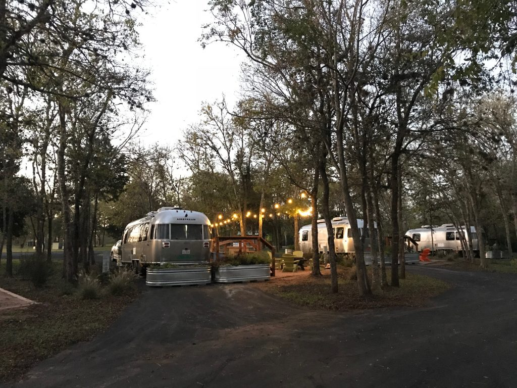 Airstreams Camping on Lake Bastrop