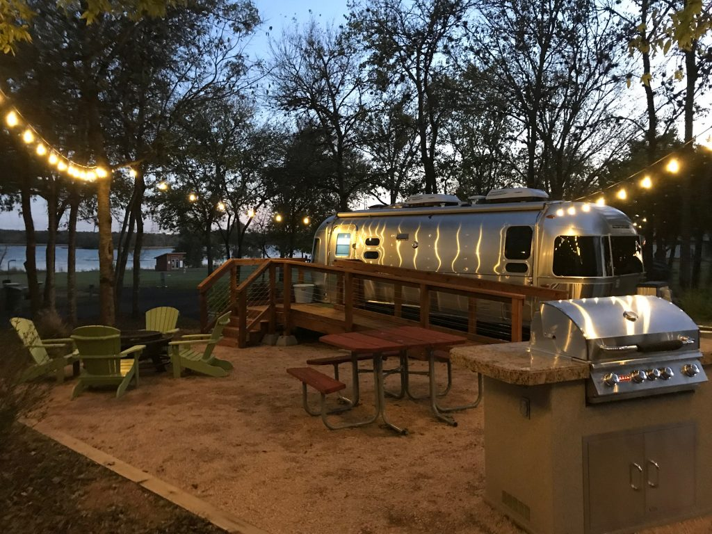 Airstream Patio on Lake Bastrop