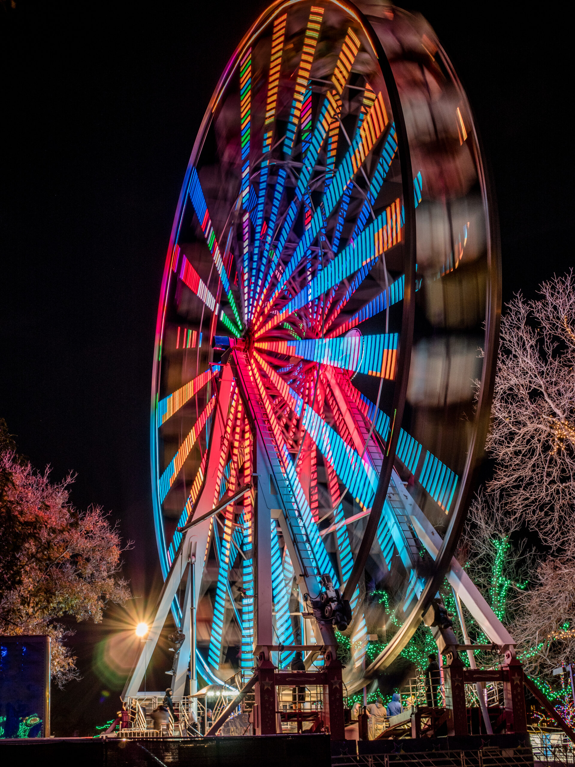 Zilker Park Ferris Wheel at Christmastime