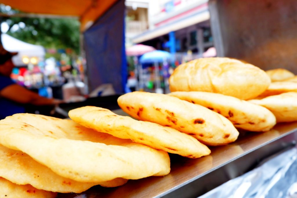 Gorditas fresh off the grill at Historic Market Square