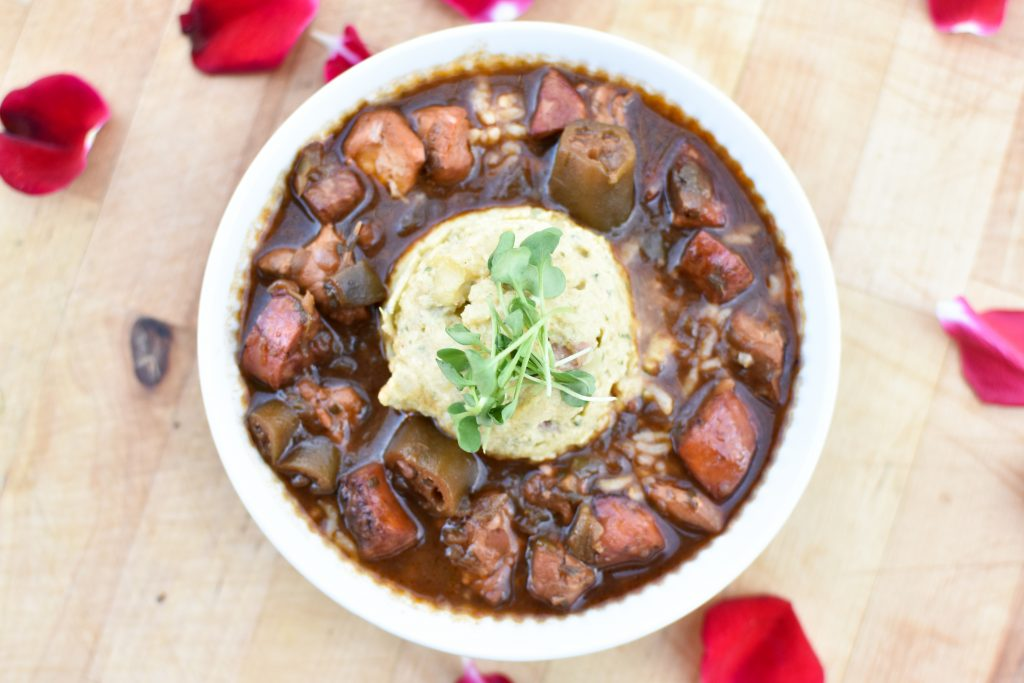 Chicken and Sausage Gumbo at Baton Creole in Austin