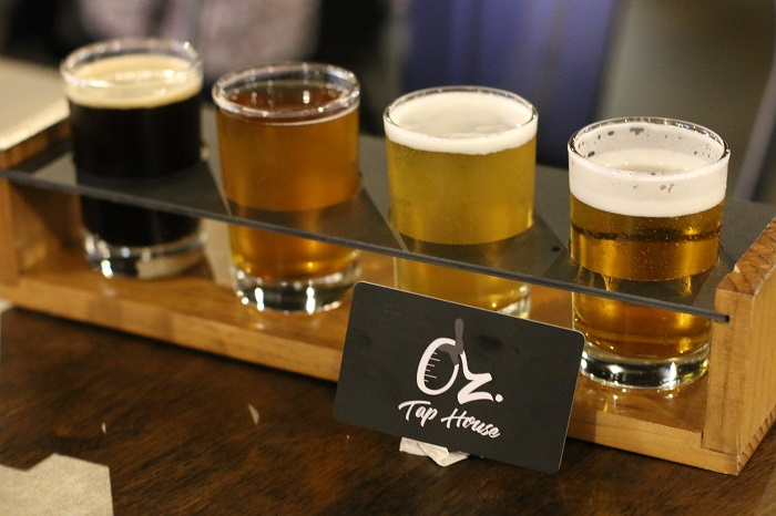 Oz Tap House Craft Beer Flight in Austin