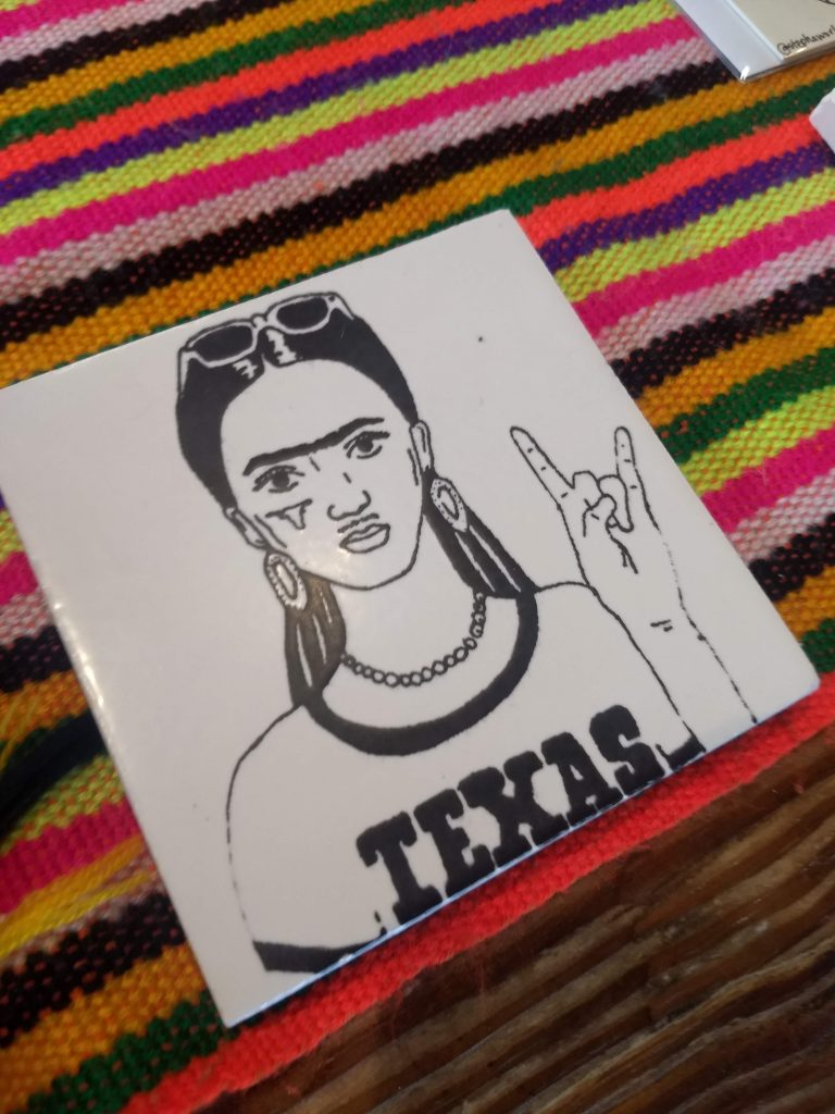 Frida coaster With Hook Em for UT Austin