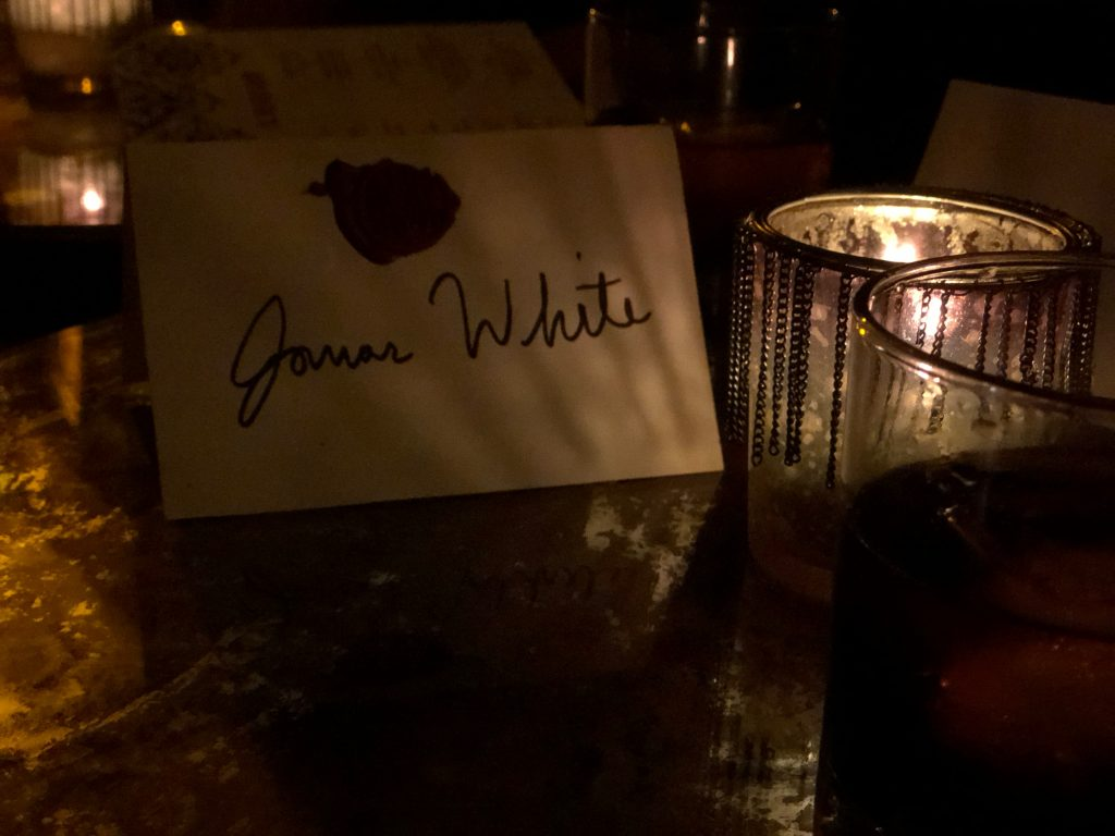 personalized name setting at Milonga Room