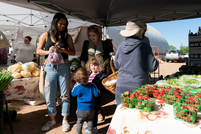 Mueller Farmers' Market With Kids