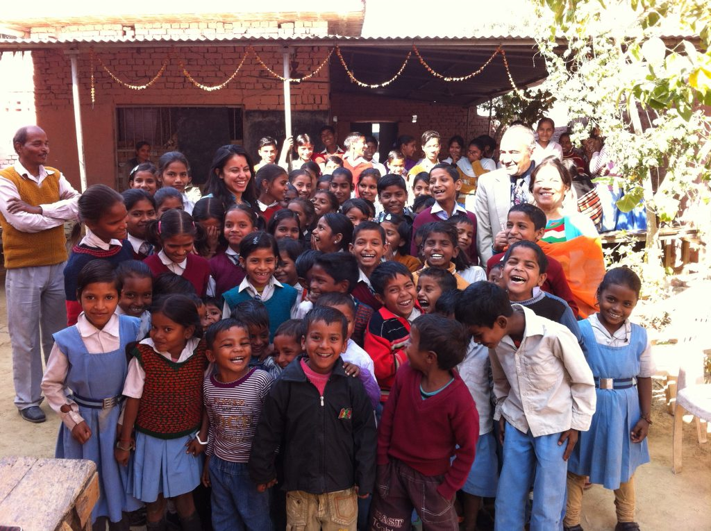 Ishi Puri Visits Children at Underprivileged School in India