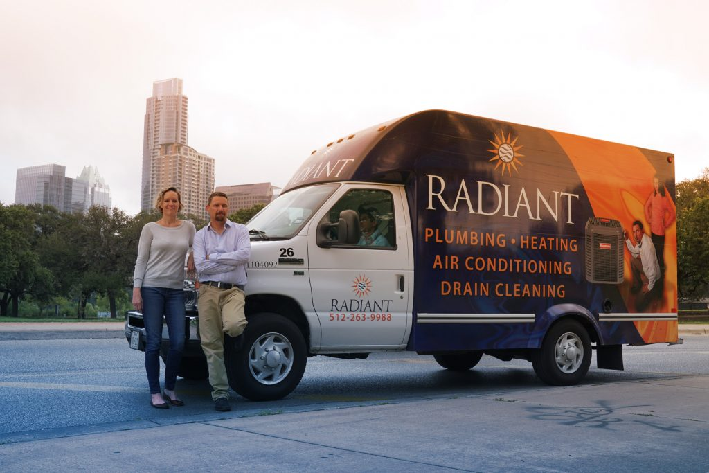 Brad and Sarah Casebier Radiant Plumbing Owners