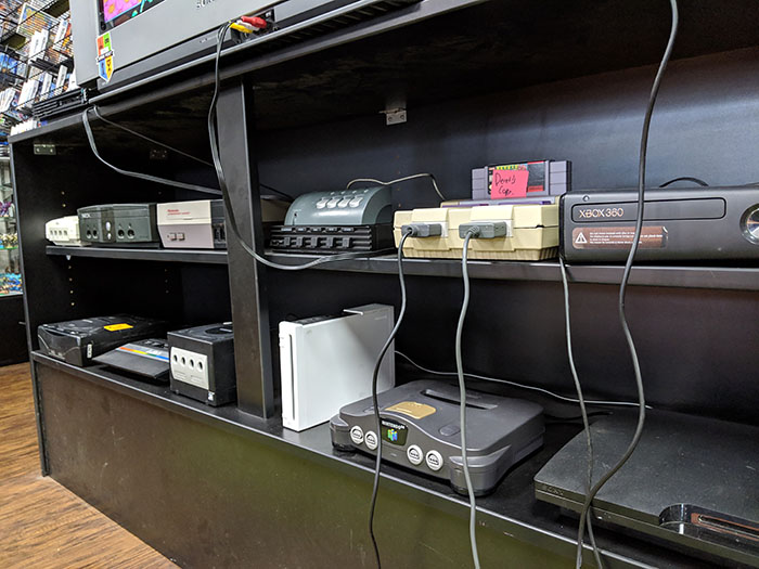 Retro Videogame Systems at Game Over