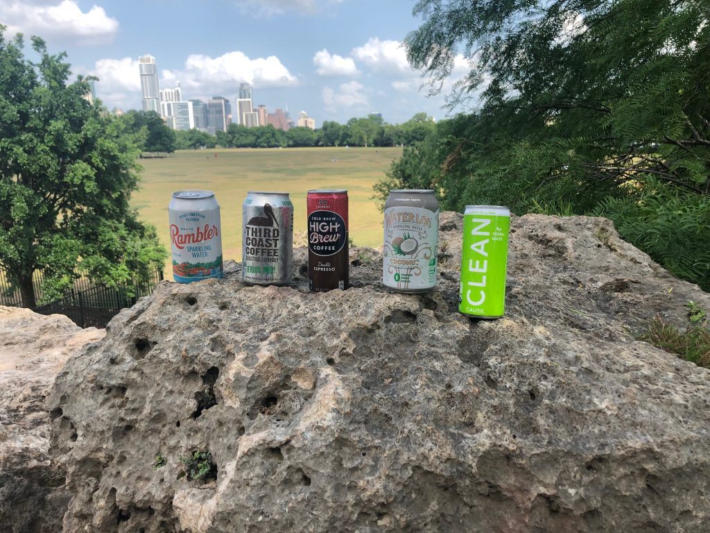 Austin Canned Drinks at Lady Bird Lake
