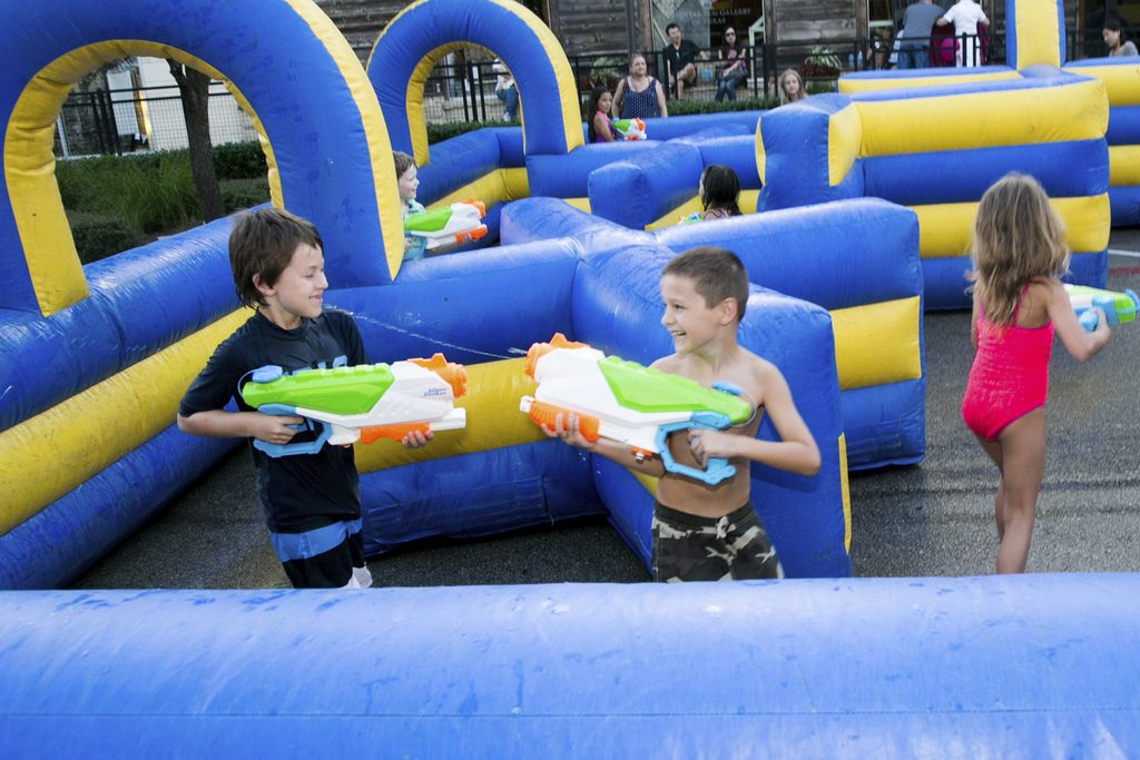 Games and festival fun at Hill Country Galleria on Fourth of July