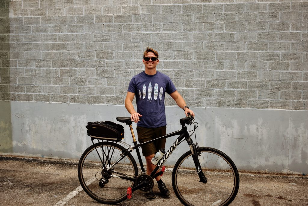 Ross McIntyre with Tour Bike at Frontera Tours in Austin
