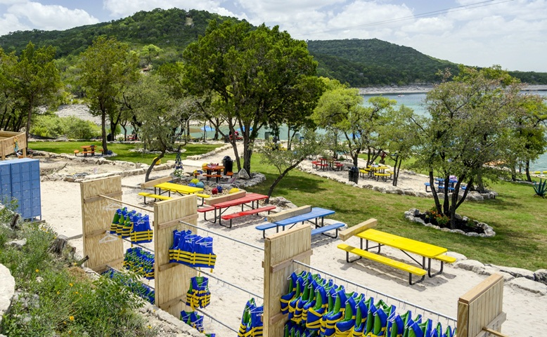 Private Beach on Lake Travis at Waterloo Adventures