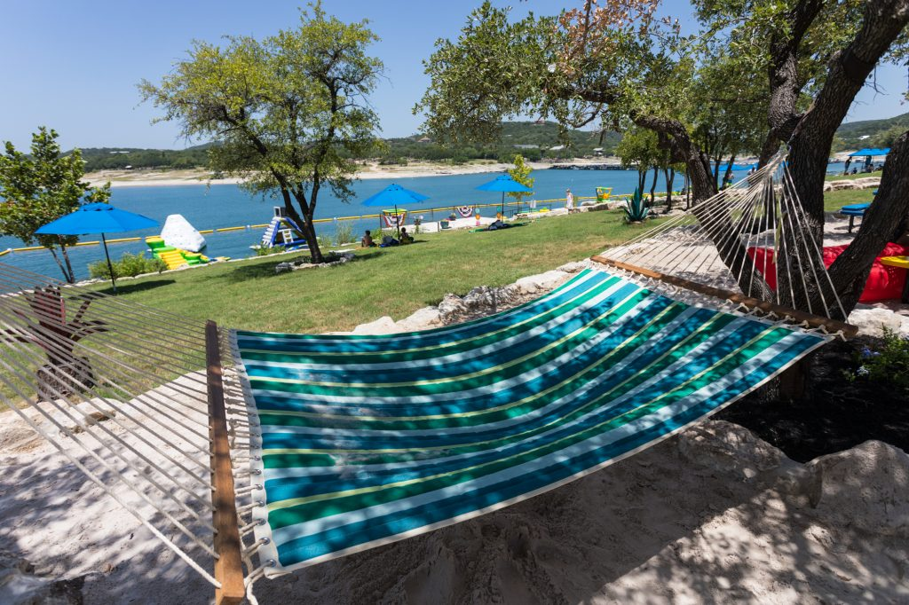 Shaded hammock at Waterloo Adventures
