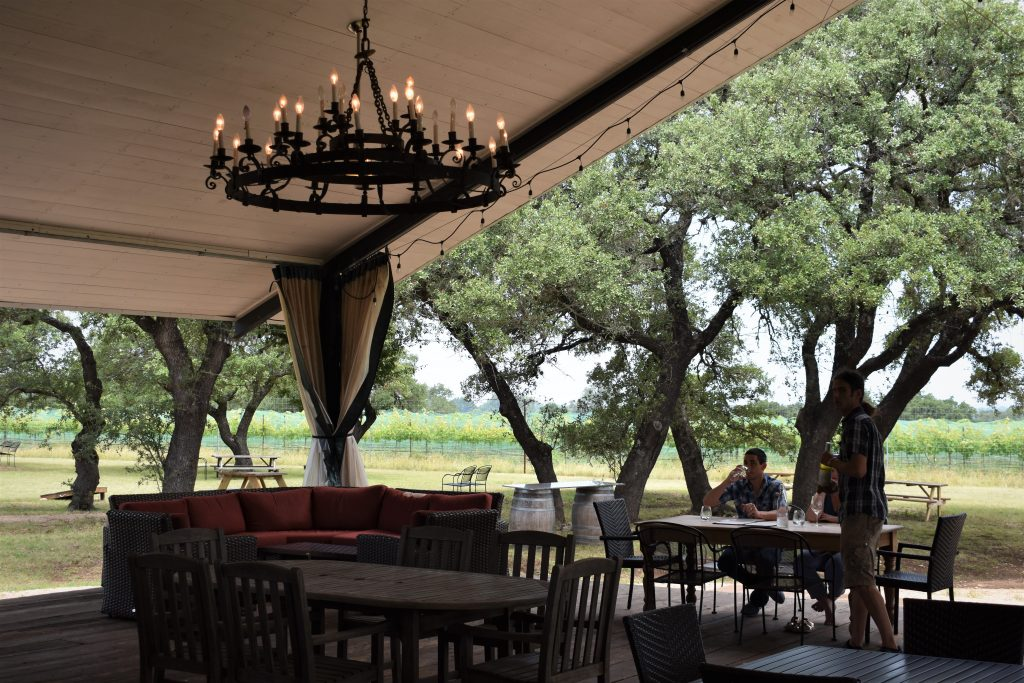 Lewis Wines Shaded Patio